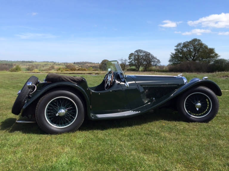 Jaguar Ss 100 For Hire In Thirsk Bookaclassic