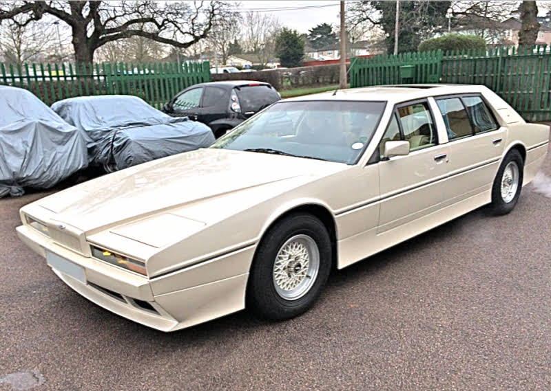 Aston Martin Lagonda Series 2 Tickford Limousine For Hire In London    BookAclassic