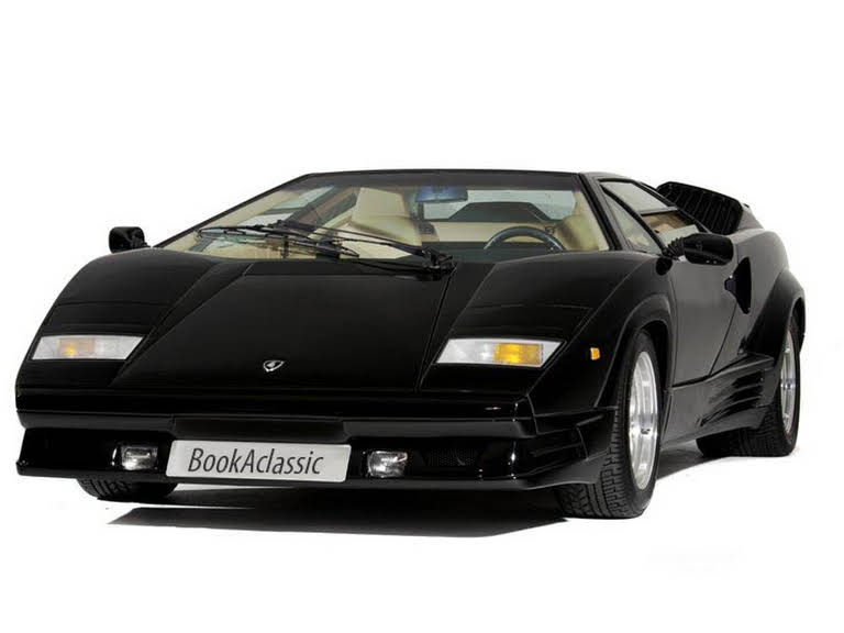 lamborghini countach 25th anniversary for hire in london bookaclassic. Black Bedroom Furniture Sets. Home Design Ideas
