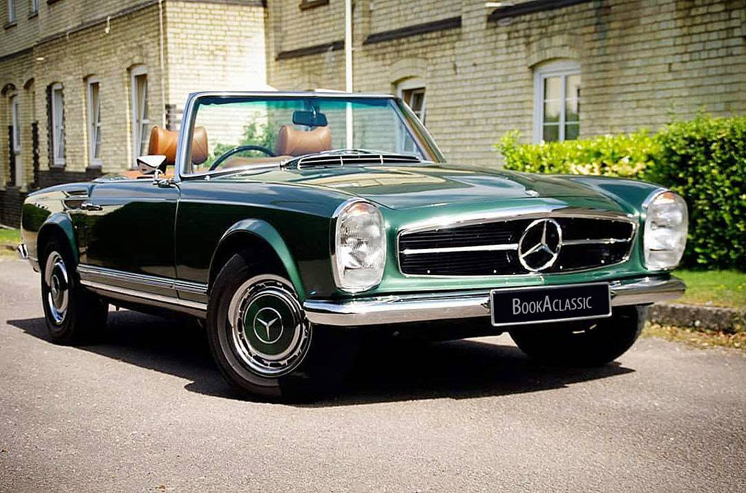 Mercedes benz 280sl pagoda for hire in letchworth garden for Mercedes benz for rent