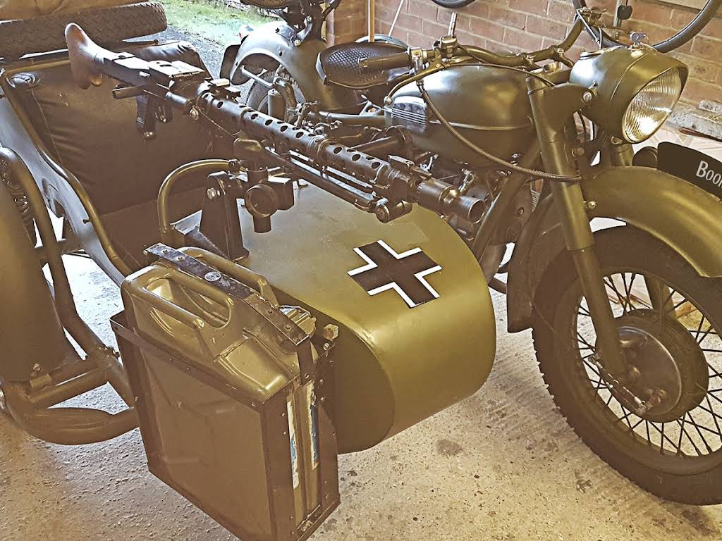 BMW R71 Ww2 Motorcycle & Sidecar Hire Fareham